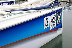 Race Boat Branding/Layout. Korea Match Cup 2010. World Match Racing Tour. Gyeonggi, Korea. 10th June 2010. Photo: Ian Roman/Subzero Images.