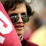 A South Carolina fan is seen during the NCAA Capital One Bowl football game between the South Carolina Gamecocks who represent the SEC and the Wisconsin Badgers who represent the Big 10 Conference, at the Florida Citrus Bowl on Wednesday, January 1, 2014 in Orlando, Florida. (AP Photo/Alex Menendez)