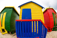 Colorful beach huts, Muizenberg Beach, False Bay (near Cape Town), South Africa