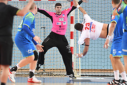 Rok Zaponsek of Slovenia during friendly handball match between Slovenia and Srbija, on October 27th, 2019 in Športna dvorana Lukna, Maribor, Slovenia. Photo by Milos Vujinovic / Sportida