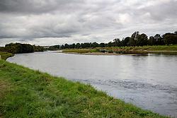 The River Tay passes Scone Palace, Perth, Scotland.