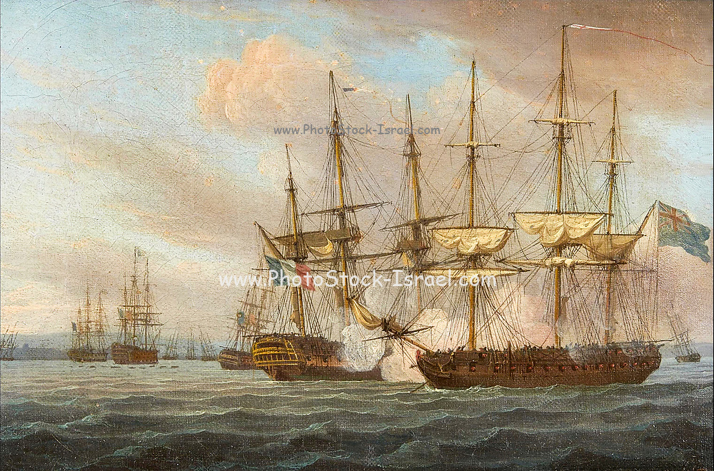 Destruction of the French Fleet in Basque Roads - April 12th 1809. By Thomas Whitcombe (1763–1824). Basque Roads, sometimes referred to as Aix Roads, is a roadstead (a sheltered bay) on the Biscay shore of the Charente-Maritime département of France, bounded by the Île d'Oléron to the west and the Île de Ré to the north. The port of La Rochelle stands at the northeast corner of the roads, and the town of Rochefort is near the mouth of the Charente River to the south. It was the location of a failed British attack on Rochefort in 1757 during the Seven Years' War, of an attack by HMS Unicorn and HMS St Fiorenzo on a Spanish squadron on 2 July 1799, and of the final surrender of Napoleon Bonaparte on HMS Bellerophon on 15 July 1815. It was also the site of the British naval victory over a French fleet at the 1809 Battle of Basque Roads.