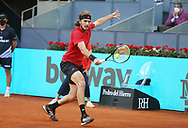Stefanos Tsitsipas of Greece during the Mutua Madrid Open 2021, Masters 1000 tennis tournament on May 5, 2021 at La Caja Magica in Madrid, Spain - Photo Laurent Lairys / ProSportsImages / DPPI