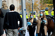 Protest organisers hand out face masks and hand sanitisers as a precaution to the COVID-19 pandemic on 06 June, 2020 in Melbourne, Australia. This event was organised to rally against aboriginal deaths in custody in Australia as well as in unity with protests across the United States following the killing of an unarmed black man George Floyd at the hands of a police officer in Minneapolis, Minnesota. (Photo by Mikko Robles/ Speed Media)