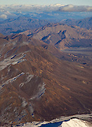 Alaska. Aerial view of Mountains West of the Toklat River, looking East, Denali National Park.