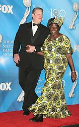 Feb 12, 2009 - Los Angeles, California, USA - Politician AL GORE and WANGARI MUTA MAATHAI  in the Press Room at the 40th NAACP Image Awards held at the Shrine Auditorium, Los Angeles. (Credit Image: © Paul Fenton/ZUMA Press)