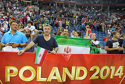 06.09.2014, Krakow Arena, Krakau, POL, FIVT WM, Belgien vs Iran, Gruppe D, im Bild Kibice Iranu // during the FIVB Volleyball Men's World Championships Pool D Match beween Belgium and Iran at the Krakow Arena in Krakau, Poland on 2014/09/06. <br /> <br /> ***NETHERLANDS ONLY***