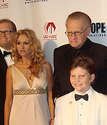 Drew Carey, Paulina Rubio, Larry King and wife Shawn Southwick King..Larry King's 75th Birthday Party and 20th Anniversary of Larry King Cardiac Foundation in partnership with COPE Health Solutions..Grand Ballroom at Hollywood and Highland..Hollywood, CA, USA..Saturday, November 15, 2008..Photo By Selma Fonseca/Celebrityvibe.com.To license this image please call (212) 410 5354; or Email: celebrityvibe@gmail.com ;.website: www.celebrityvibe.com