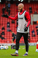 Charlton Athletic midfielder Jonathan Williams (7) warming up prior to the EFL Sky Bet League 1 match between Charlton Athletic and AFC Wimbledon at The Valley, London, England on 12 December 2020.