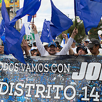 A march in favour of Juan Orlando Hernández.