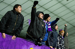 Viole, supporters of Maribor during football match between NK Maribor, SLO  and FC Schalke 04, GER in Group G of Group Stage of UEFA Champions League 2014/15, on December 9, 2014 in Stadium Ljudski vrt, Maribor, Slovenia. Photo by Vid Ponikvar / Sportida
