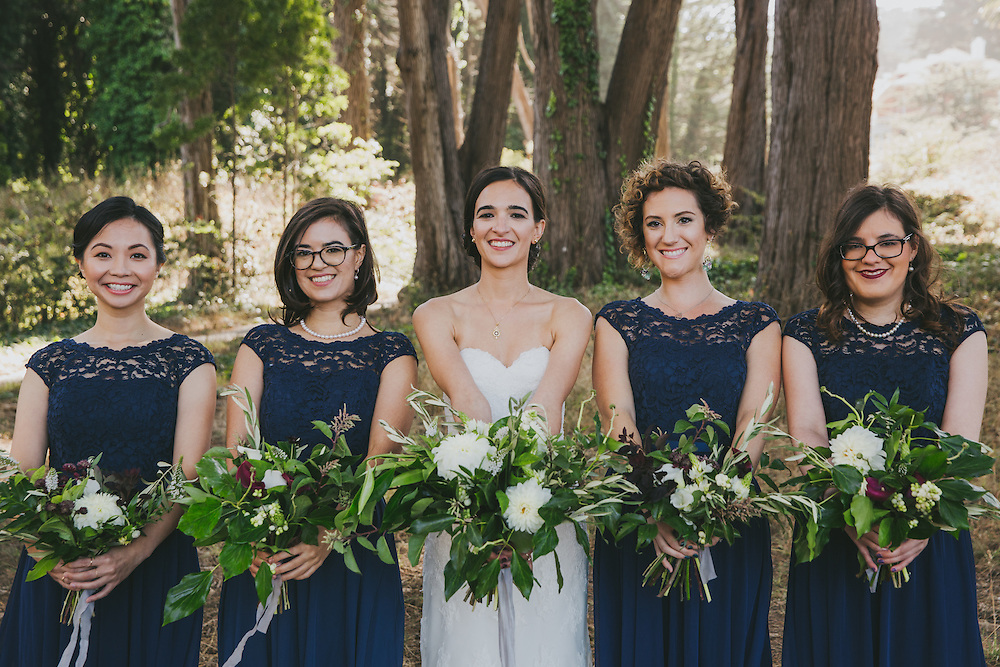 This wedding in the San Francisco Presidio started at the Inn at the Presidio, and ended at the log cabin in the Presidio, with a brief stop off at lover's lane, and Battery Godfrey.