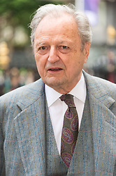 © Licensed to London News Pictures. 07/06/2017.  London, UK. PETER BOWLES attends the Memorial Service of RONNIE CORBETT at Westminster Abbey. The entertainer, comedian, actor, writer, and broadcaster was best known for his long association with Ronnie Barker in the BBC television comedy sketch show The Two Ronnies. Photo credit: Ray Tang/LNP
