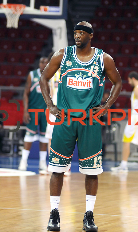 Banvit's Keith SIMMONS during their Turkish Basketball league semi final second leg match Fenerbahce Ulker between Banvit at Abdi Ipekci Arena in Istanbul, Turkey, Wednesday, May 12, 2010. Photo by TURKPIX