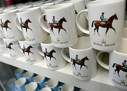 © Licensed to London News Pictures. 19/06/2012. Ascot, UK  Cups in the Royal Ascot shop. Day one at Royal Ascot 19 June 2012. Royal Ascot has established itself as a national institution and the centrepiece of the British social calendar as well as being a stage for the best racehorses in the world.. Photo credit : Stephen Simpson/LNP
