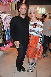 NICHOLAS KIRKWOOD and  LOUISE GRAY at a party to celebrate the launch of Louise Gray's make-up and clothing collections for Topshop held at Topshop Edited, 286 Regent Street, London on 22nd August 2012.