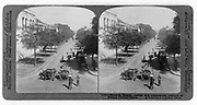 Street in Saigon, French Cochin-China, c1915.  Saigon, South Vietnam was the capital and commercial centre of French colonialism in French Indo-China. Pair of steroscope photographs. Transport Bullock Cart