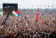DJ Fatboy Slim headlines Rockness festival, Scotland. 2008