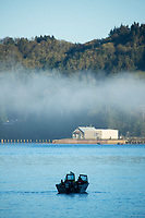 Salmon fishing, Tillamook Bay, Oregon.