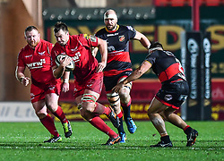 Scarlets' David Bulbring in action during todays match<br /> <br /> Photographer Craig Thomas/Replay Images<br /> <br /> Guinness PRO14 Round 13 - Scarlets v Dragons - Friday 5th January 2018 - Parc Y Scarlets - Llanelli<br /> <br /> World Copyright © Replay Images . All rights reserved. info@replayimages.co.uk - http://replayimages.co.uk