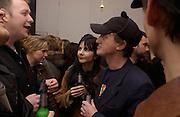 Gillian Wearing, Opening of Carl Freidman's Counter Editions, Charlotte Rd. 11 March 2003. © Copyright Photograph by Dafydd Jones 66 Stockwell Park Rd. London SW9 0DA Tel 020 7733 0108 www.dafjones.com