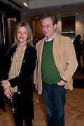 CATHERINE MOULD; PHILIP MOULD, Bonhams Auction house hosts festive drinks to preview the first phase of the reconstruction of its Mayfair Headquarters - due for completion in 2013.<br /> Bonhams, 101 New Bond Street, London, 19 December 2011.