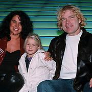 Premiere Kabouter Plop in de Wolken, Ruud Bernard met vrouw Wiltrude Machielsen en dochter Bibi