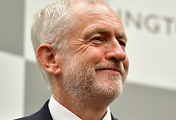 Labour leader Jeremy Corbyn reacts after holding his Islington North seat at the Sobell Leisure Centre in Islington, north London.