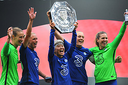 Chelsea Women lift the FA Women's Community Shield after beating Manchester City Women 2-0 - Mandatory by-line: Nizaam Jones/JMP - 29/08/2020 - FOOTBALL - Wembley Stadium - London, England - Chelsea v Manchester City - FA Women's Community Shield