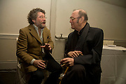 CRAIG RAINE AND SIR HAROLD PINTER, party to celebrate the 100th issue of Granta magazine ( guest edited by William Boyd.) hosted by Sigrid Rausing and Eric Abraham. Twentieth Century Theatre. Westbourne Gro. London.W11  15 January 2008. -DO NOT ARCHIVE-© Copyright Photograph by Dafydd Jones. 248 Clapham Rd. London SW9 0PZ. Tel 0207 820 0771. www.dafjones.com.