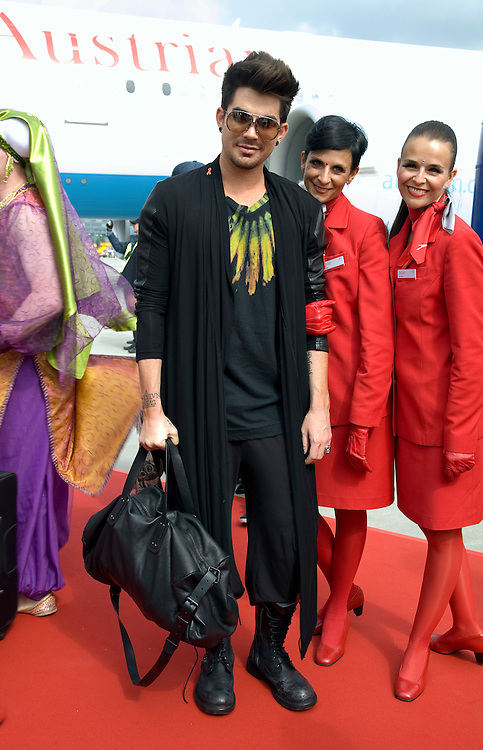 Celebrities and guests arrive on the Life Ball Jet from New York to Vienna. 24/05/2013 Manuela Larissegger/CatchlightMedia