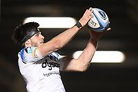 Rugby Union - 2020 / 2021 Gallagher Premiership - Round Nine - Sale Sharks  vs Bath - AJ Bell Stadium<br /> <br /> Bath Rugby's Josh Bayliss claims the lineout.<br /> <br /> COLORSPORT/ASHLEY WESTERN