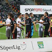 Bursaspor's and Besiktas's players during the Turkish soccer super league match Bursaspor between Besiktas at the Ataturk Stadium in Bursa Turkey on Monday, 22 September 2014. Photo by TURKPIX