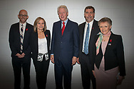 20th International AIDS Conference (AIDS 2014). International AIDS Society, at the Exhibition Centre, Melbourne, Australia. <br /> <br /> Photo shows: Former US President Bill Clinton meets members of the International AIDS Society (IAS) backstage before his speech. From left to right): Owen Ryan, Sharon Lewin, Bill Clinton,Chris Beyrer Francoise Barre-Sinoussi.<br /> Photo © Steve Forrest/Workers' Photos