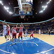 Anadolu Efes's Stratos Perperoglou (L) during their Gloria Cup Basketball Tournament match Anadolu Efes between Crvena Zvezda at Ulker Sports Arena in istanbul Turkey on Friday 26 September 2014. Photo by Aykut AKICI/TURKPIX