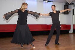 09.03.2016, Tanzschule Breuer, Koeln, GER, Lets Dance, Training, im Bild Nastassja Kinski (55, Schauspielerin) mit Christian Polanc (37, Profitaenzer) // during the German Let's Dance, Training at Tanzschule Breuer in Koeln, Germany on 2016/03/09. EXPA Pictures © 2016, PhotoCredit: EXPA/ Eibner-Pressefoto/ Deutzmann<br /> <br /> *****ATTENTION - OUT of GER*****