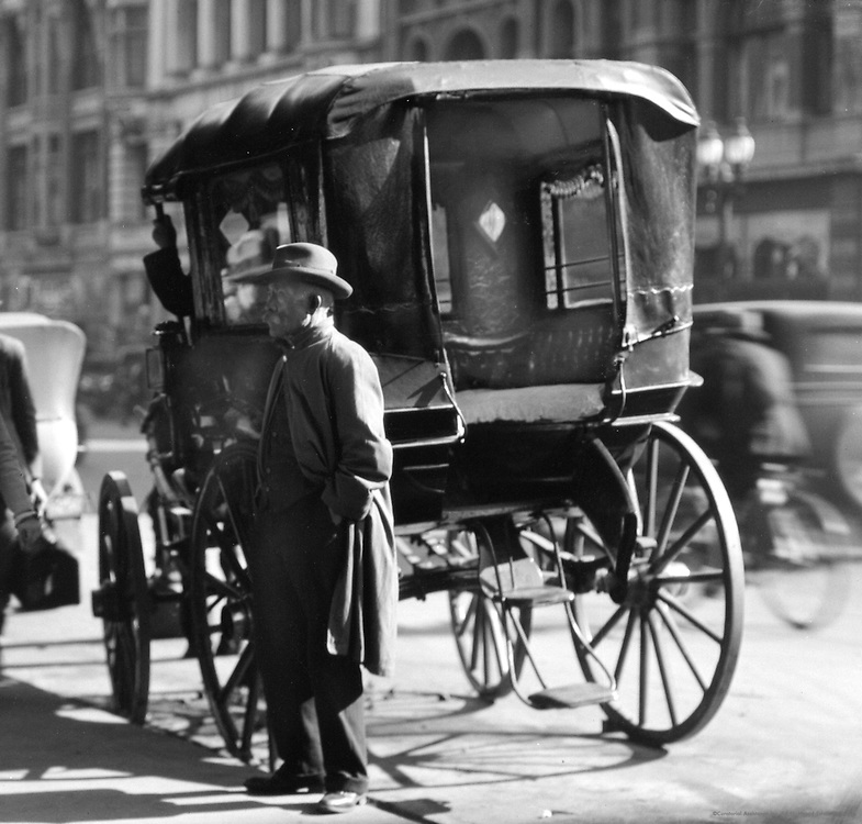 Old Timer and Carriage, Melbourne, Australia,1930