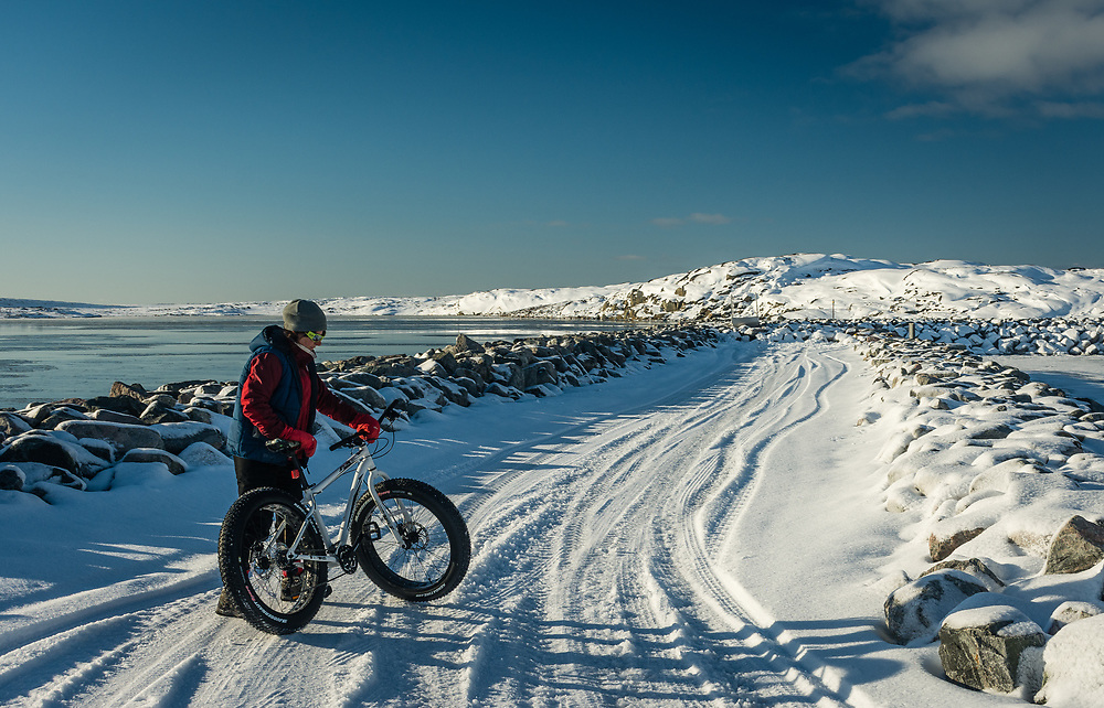 During winter, it's also time for monster bike in Nunavik.
