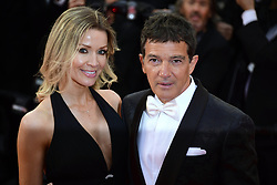 Nicole Kimpel, Antonio Banderas attending the Pain and Glory Premiere as part of the Cannes 72nd Film Festival in France