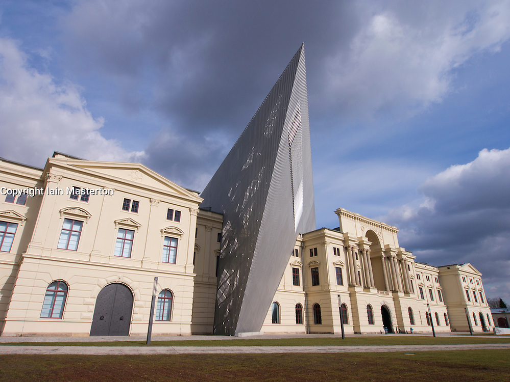 Military Historical Museum of the Bundeswehr (MHM) in Dresden Saxony Germany after renovation by Architect Daniel Libeskind