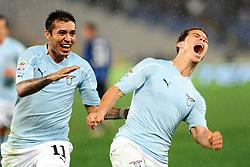 03.12.2010, Stadio Olimpico, Rom, ITA, Serie A, Lazio Rom vs Inter Mailand, im Bild HERNANES celebrates scoring., EXPA Pictures © 2010, PhotoCredit: EXPA/ InsideFoto/ Massimo Oliva         +++++ ATTENTION - FOR AUSTRIA/AUT, SLOVENIA/SLO, SERBIA/SRB an CROATIA/CRO CLIENT ONLY +++++