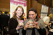 Siobhan Joyce Bowl a Granola  and Norah Casey at the annual SCCUL Enterprise Awards prize giving ceremony and business expo which was hosted by NUI Galway in the Bailey Allen Hall, NUIG. Photo:Andrew Downes