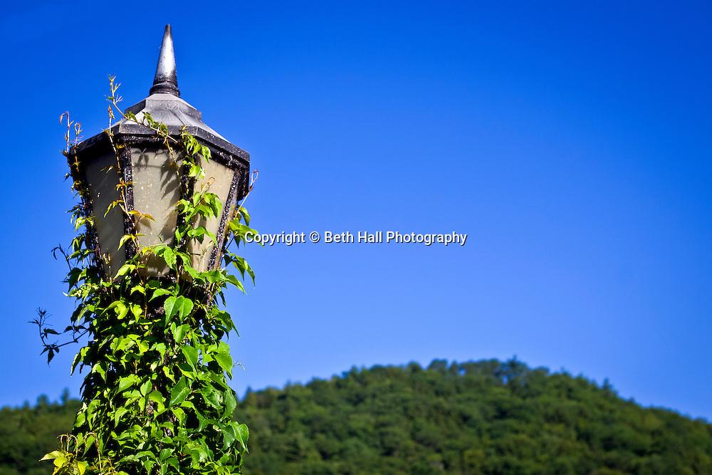 Lamp post from Bridge of Flowers in Shelburne Falls, Massachusetts.