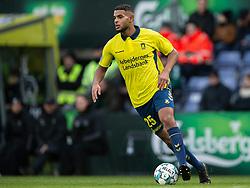 Anis Slimane (Brøndby IF) under kampen i 3F Superligaen mellem Brøndby IF og Lyngby Boldklub den 1. marts 2020 på Brøndby Stadion (Foto: Claus Birch).