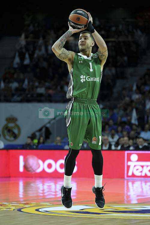February 24, 2017 - Madrid, Madrid, Spain - Wilbekin of Darussafaka Dogus Istanbul in action during the 2016/2017 Turkish Airlines Euroleague Regular Season Round 23 game between Real Madrid and Darussafaka Dogus Istanbul at Barclaycard Center on February 24, 2017 in Madrid, Spain  (Credit Image: © Oscar Gonzalez/NurPhoto via ZUMA Press)