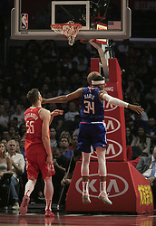 October 21, 2018 - Los Angeles, California, U.S - Tobias Harris #34 of the Los Angeles Clippers dunks the ball during their NBA game with the Houston Rockets on Sunday October 21, 2018 at the Staples Center in Los Angeles, California. (Credit Image: © Prensa Internacional via ZUMA Wire)
