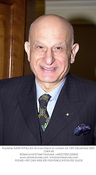 Publisher NAIM ATTALLAH at a luncheon in London on 13th December 2001.<br />OWH 45