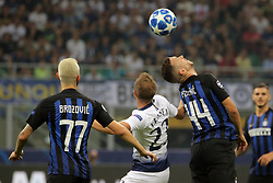 September 18, 2018 - Milan, Milan, Italy - Ivan Perisic #44 of FC Internazionale Milano competes for the ball with  Christian Eriksen #23 of Tottenham Hotspur during  the UEFA Champions League group B match between FC Internazionale and Tottenham Hotspur at Stadio Giuseppe Meazza on September 18, 2018 in Milan, Italy. (Credit Image: © Giuseppe Cottini/NurPhoto/ZUMA Press)