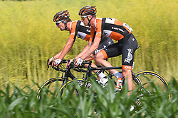 June 17, 2017 - Schaffhausen, Suisse - SCHAFFHAUSSEN, SWISS - JUNE 17 : WEENING Pieter of Roompot - Nederlandse Loterij during stage 8 of the Tour de Suisse cycling race, a stage of 100 kms between Schaffhaussen and Schaffhaussen on June 17, 2017 in Schaffhaussen, Swiss, 17/06/2017 (Credit Image: © Panoramic via ZUMA Press)