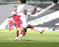 Milton Keynes Dons' Izale McLeod tries to control the ball  - Photo mandatory by-line: Nigel Pitts-Drake/JMP - Tel: Mobile: 07966 386802 07/09/2013 - SPORT - FOOTBALL -  Stadium MK - Milton Keynes - Milton Keynes V Swindon Town - Sky Bet League one